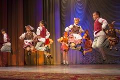 Pralesachki participa com dança popular Fotos de Stock Royalty Free