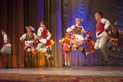 Pralesachki participate with folk dance Royalty Free Stock Photos
