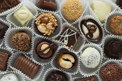 Pralina belga assortita del cioccolato Fotografie Stock Libere da Diritti