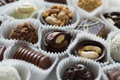 Pralina belga assortita del cioccolato Fotografia Stock
