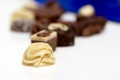 Pralina bianca squisita del cioccolato fotografia stock libera da diritti