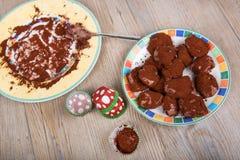 Pralina casalinga deliziosa del tartufo di cioccolato fotografie stock