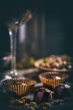 Pralina del cioccolato fotografia stock