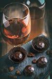 Pralina del cioccolato fotografie stock libere da diritti
