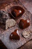 Pralina del cioccolato fotografia stock libera da diritti