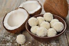 Pralina della noce di cocco Immagine Stock
