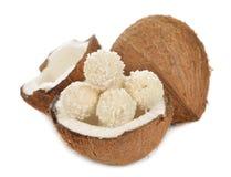 Pralina della noce di cocco immagini stock