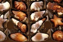 Pralina di lusso del cioccolato nella casella. immagini stock libere da diritti