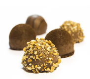 Pralina gastronomica del cioccolato - isolata Fotografia Stock