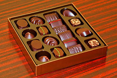 Praline box Stock Photos