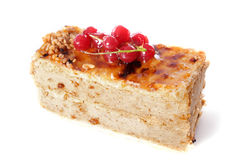 Praline cake with red currants Stock Photo