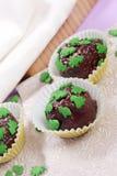 Praline casalinghe del cioccolato Fotografie Stock