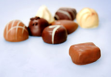 Praline of chocolate Stock Images