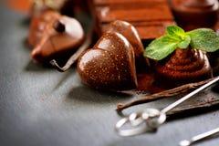 Praline chocolate sweets Stock Photo