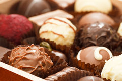 Praline chocolates Royalty Free Stock Photos