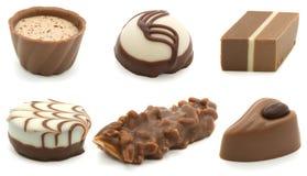 Praline del cioccolato dell'assortimento immagini stock libere da diritti