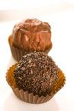 Praline do chocolate fotografia de stock