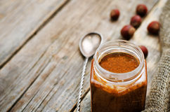 Praline in a jar Stock Photo