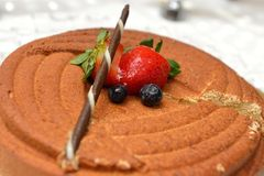 Praline mousse cake Royalty Free Stock Images