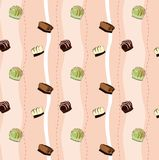 Praline pattern Royalty Free Stock Image
