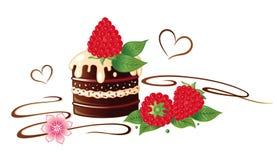 Praline, raspberries. Praline with raspberries and chocolate Royalty Free Stock Image