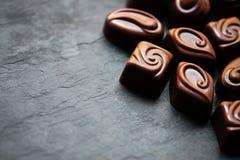 Praline-süße Tapete in der hohen Auflösung Dunkles chocola Lizenzfreie Stockfotografie