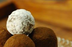 Pralines caseiros de Choccolate Fotografia de Stock