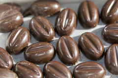 Pralines at the coffe Stock Image