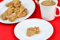 Pralines and Coffee Royalty Free Stock Photography
