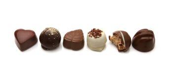 pralines czekoladowych Obrazy Royalty Free