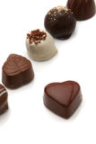 pralines czekoladowych Fotografia Royalty Free