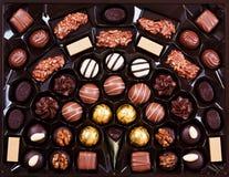Pralines do chocolate Imagens de Stock