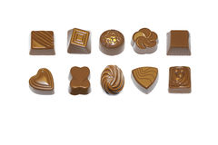 Pralines et truffes de chocolat Images stock