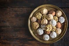 Pralines faites maison de chocolat Image stock