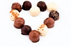 Pralines Heart Royalty Free Stock Photography