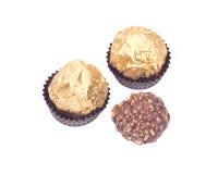 Pralines redondos luxuosos do chocolate foto de stock royalty free