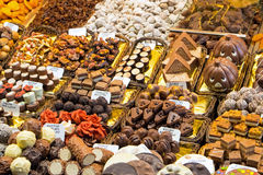 Pralines for sale at a market Stock Images