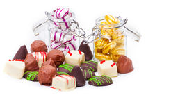 Pralines and sweets Royalty Free Stock Photos