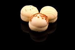 Pralines white Royalty Free Stock Photography