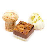 Pralines on White Royalty Free Stock Photos