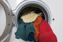 Pralka z barwioną pralnią Obraz Stock