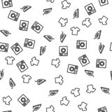 Pralki koszulki Czyści Bezszwowy wzór ilustracji