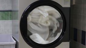Pralki obmycia bielu pościel zbiory wideo