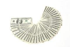 Prallplatte des Geldamerikaners hundert Dollarscheine Stockbilder