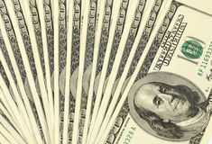 Prallplatte des Geldamerikaners hundert Dollarscheine Lizenzfreie Stockfotos