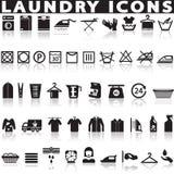 Pralnia i Płuczkowe ikony Zdjęcia Royalty Free