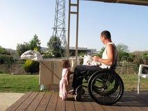 pralniany wózek inwalidzki Zdjęcia Royalty Free