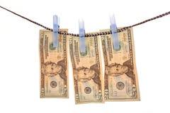 pralniczy pieniądze Zdjęcia Royalty Free