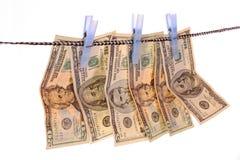 pralniczy pieniądze Fotografia Royalty Free