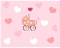 pram девушки newborn Стоковые Фотографии RF